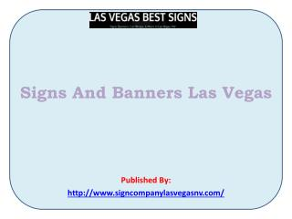 Signs And Banners Las Vegas