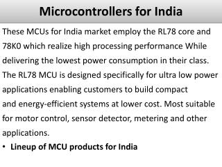 Microcontrollers for India