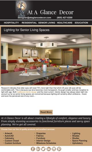 Senior Living Interior Designer