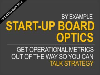 Sample SME Board of Directors dashboard