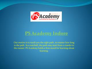 PS Academy – MPPSC Coaching Classes in Indore
