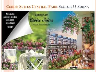 Central Park Cerise Suites Sector 33 Sohna @ 9027031031