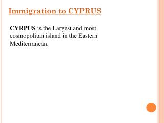 Cyprus Work Visa Consultant in India