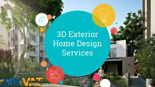 3D Exterior Home Design Services