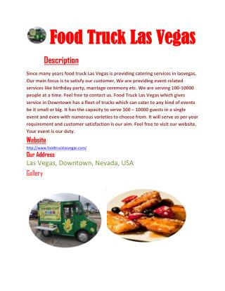 Food Trucks Las Vegas catering for you
