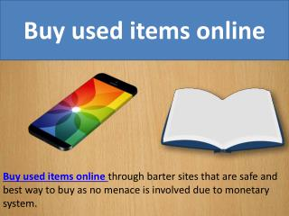 Buy used items online