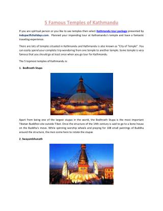 5 Famous Temples of Kathmandu
