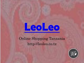 Online Books Music DVD's Tanzania - Leoleo