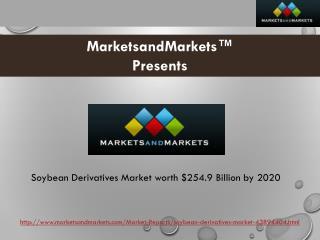 Soybean Derivatives Market worth $254.9 Billion by 2020