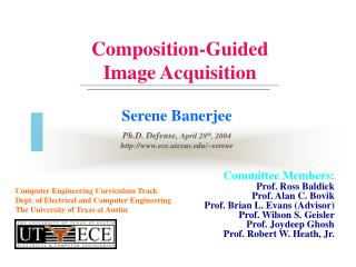 Composition-Guided Image Acquisition
