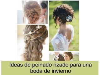Ideas de peinado rizado para una boda de invierno