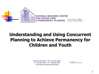 Understanding and Using Concurrent Planning to Achieve Permanency for Children and Youth