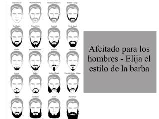 Afeitado para los hombres - Elija el estilo de la barba