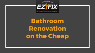 Bathroom Renovation on the Cheap - Ezyfix