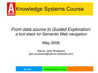Knowledge Systems Course
