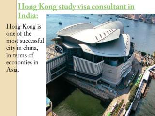 Hong Kong study visa consultant in India