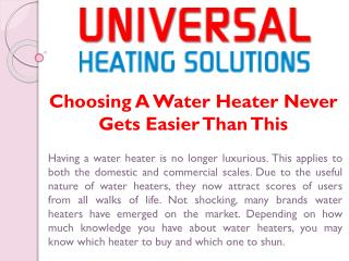 Marine Water Heater
