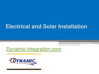 Electrical and Solar Installation - Dynamic-integration.com