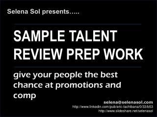 Sample Talent Review Worksheet