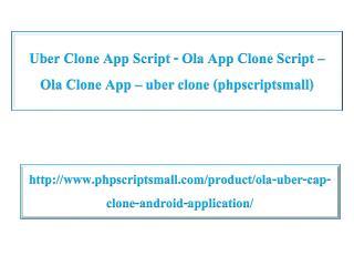 Uber Clone App Script - Ola App Clone Script - Ola Clone App