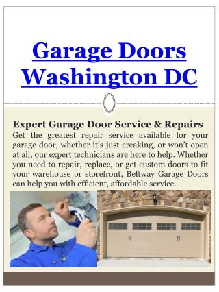 Washington DC Garage Door Installation