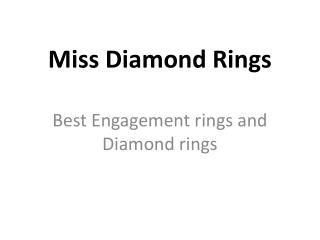 Miss Diamond Ring