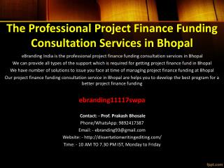 92 The Professional Project Finance Funding Consultation Services in Bhopal