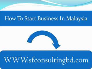 How to start business in Malaysia