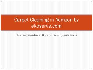 Carpet Cleaning in Addison by ekoserve.com