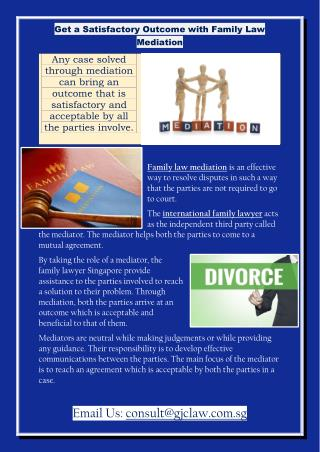 Get a Satisfactory Outcome with Family Law Mediation