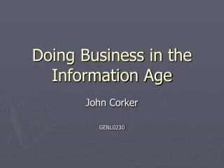 Doing Business in the Information Age