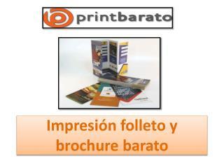 Impresión folleto y brochure barato