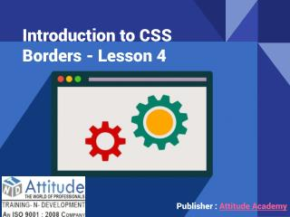 Introduction to CSS Borders - Lesson 4