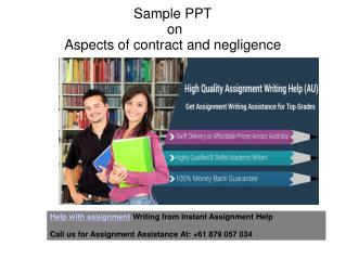 Aspects of Contract and Negligence PPT