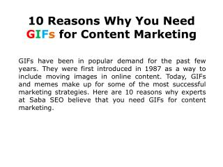 10 Reasons Why You Need GIFs for Content Marketing