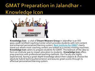 GMAT Preparation in Jalandhar - Knowledge Icon