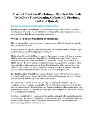 Product Creation Workshop review - Introducing a cool weapon!