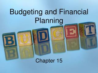 Budgeting and Financial Planning