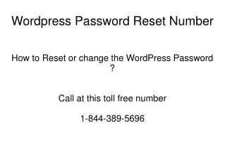 Wordpress Password Reset 18443895696 Number