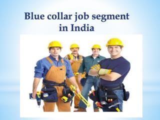 Blue collar job segment in India