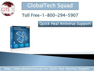 Quick Heal Antivirus Support |Toll Free 1-800-294-5907