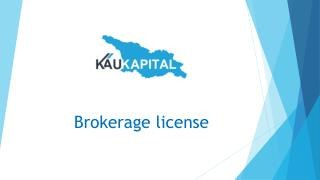 Professional Help For Brokerage License in Georgia | Kaukapital
