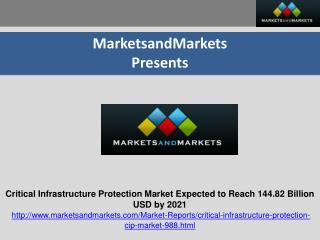 Critical Infrastructure Protection Market Expected to Reach 144.82 Billion USD by 2021