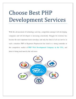 Choose Best PHP Development Services