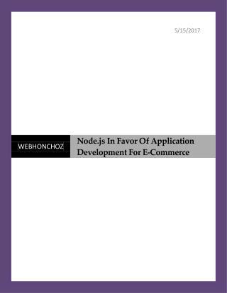 Angularjs In Favor Of Application Development For E-Commerce