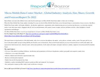 Micro-Mobile Data Center Market