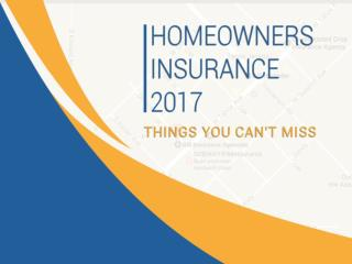 Home Insurance 2017 - Things You Can't Miss