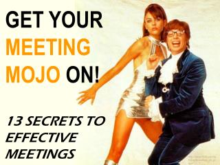 Rules for effective meetings - seriously....stop wasting time