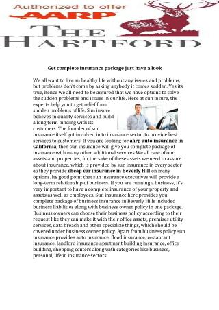 aarp auto insurance in California