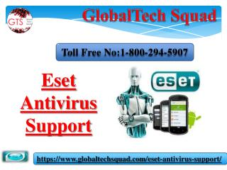Eset Antivirus Support in USA | Toll Free  1-800-294-5907